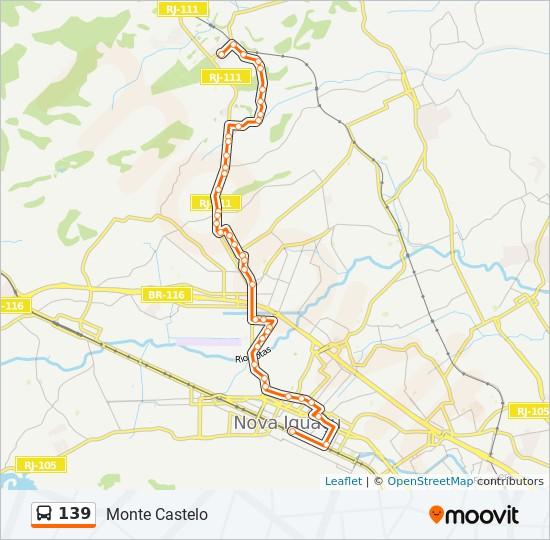 Mapa da linha 139 de ônibus