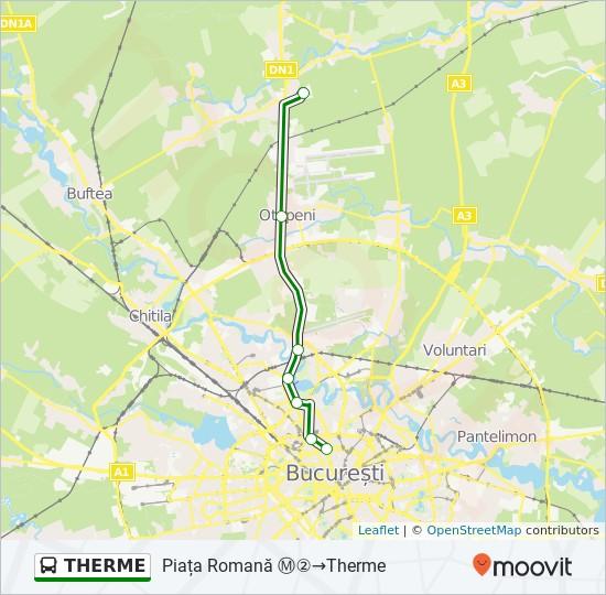 Hartă linie autobuz THERME