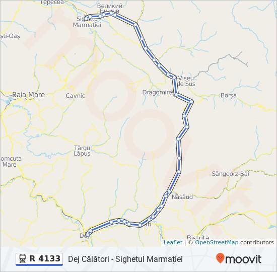 R 4133 Route: Time Schedules, Stops & Maps - Dej Călători - Sighetul  Marmației