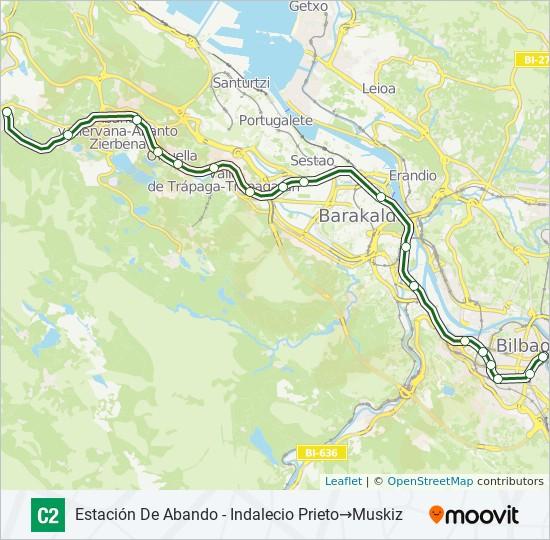 Mapa de C2 de tren