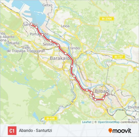 Mapa de C1 de tren