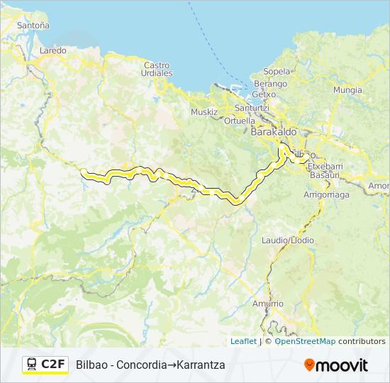 Mapa de C2F de tren