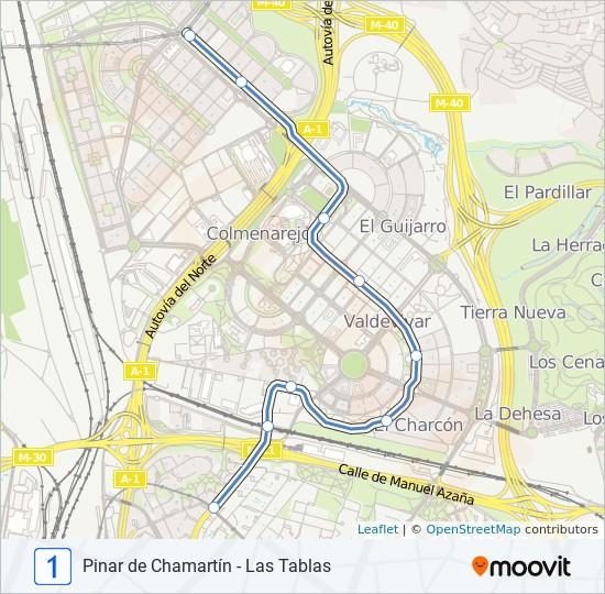 Ml 1 Route Time Schedules Stops Maps Las Tablas