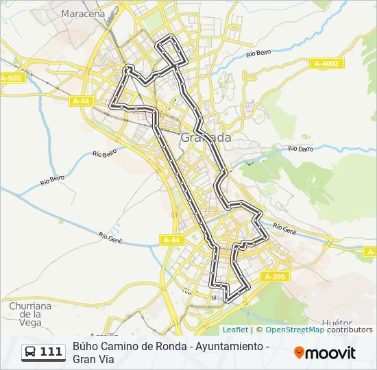 Mapa de 111 de autobús