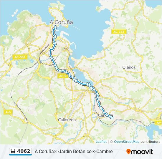 Mapa de 4062 de autobús