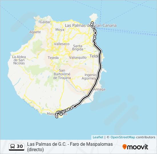 30 bus Line Map