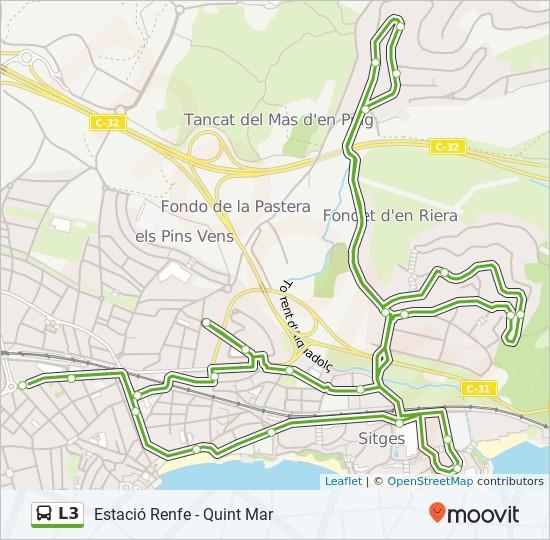L3 bus Line Map