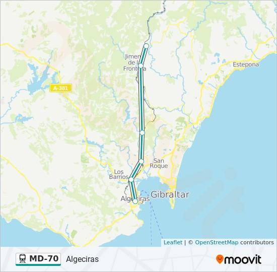 Mapa de MD-70 de tren