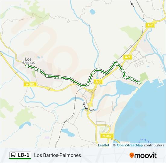 LB-1 bus Line Map