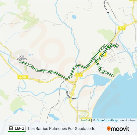Mapa de LB-1 de autobús