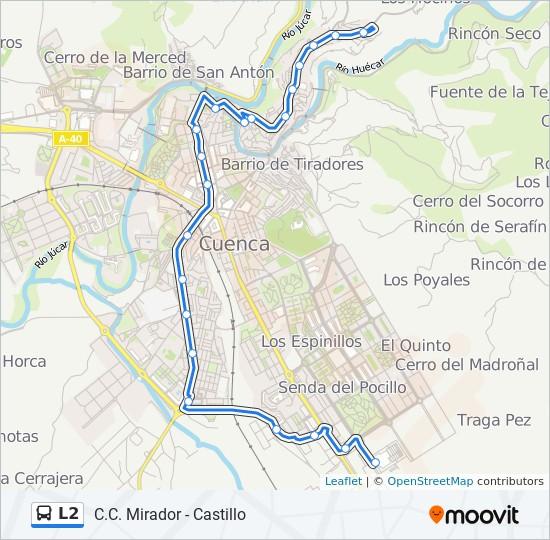 Mapa de L2 de autobús