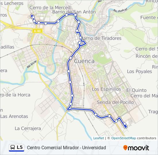 Mapa de L5 de autobús