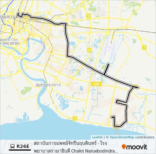 R26E bus Line Map