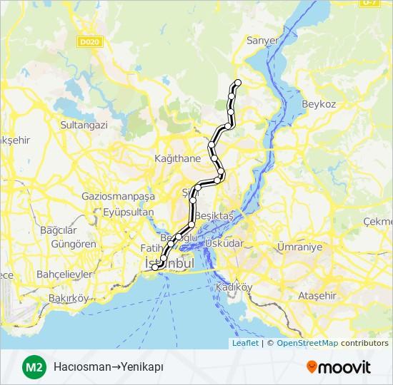 M2 metro Line Map