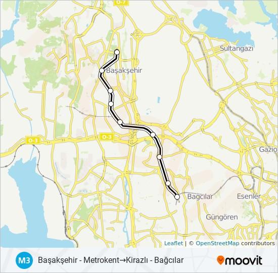 M3 metro Line Map