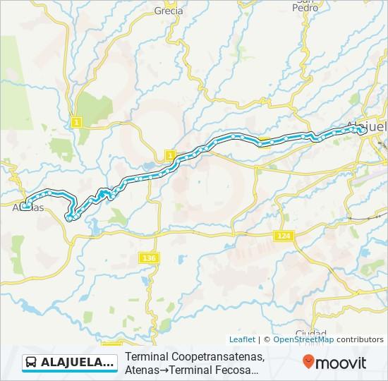 ALAJUELA - ATENAS bus Line Map