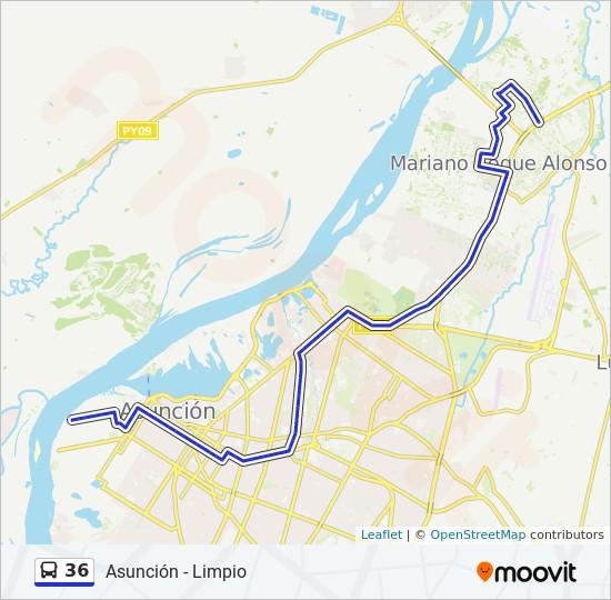 36 bus Line Map