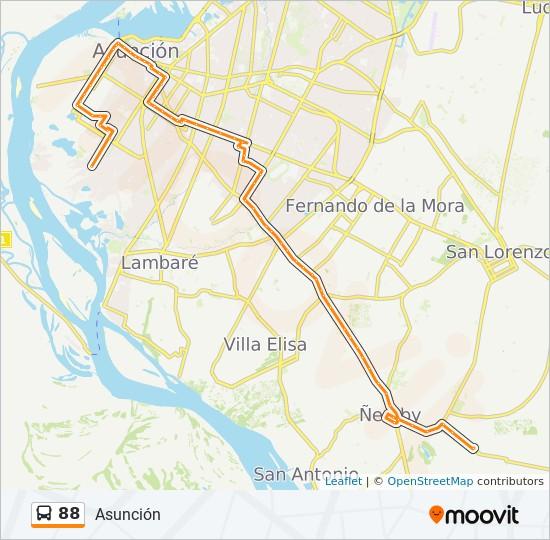 88 bus Line Map