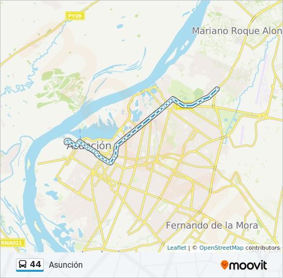 44 bus Line Map