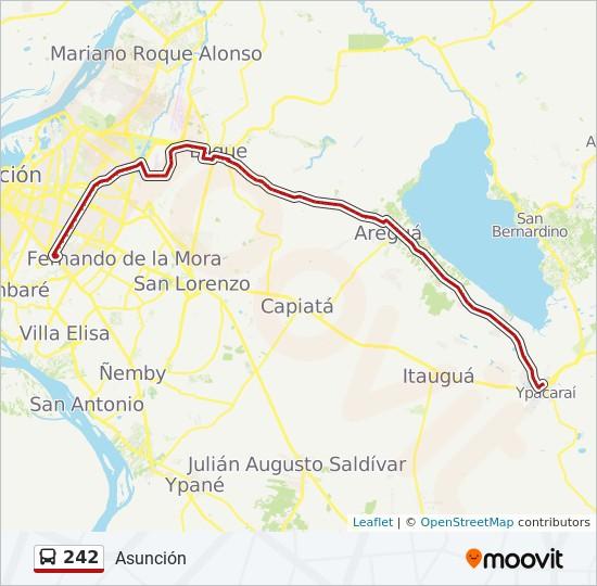 242 bus Line Map