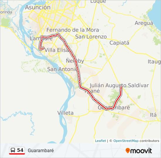 54 bus Line Map