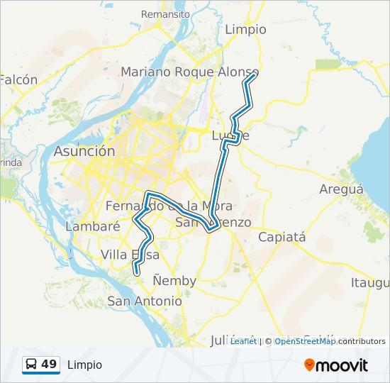 49 bus Line Map