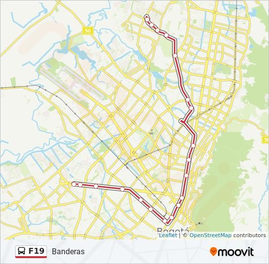 Linea F19 Horarios Mapas Y Paradas Banderas