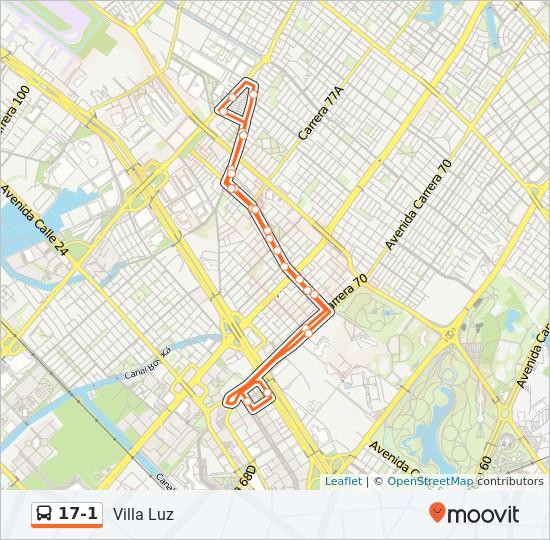 17-1 SITP Line Map