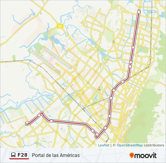 Linea F28 Horarios Mapas Y Paradas Portal De Las Americas