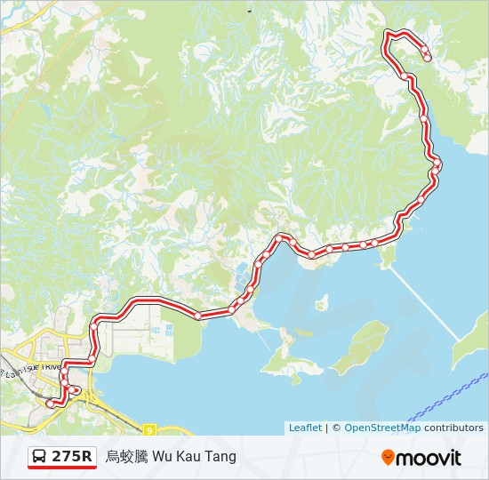 275R bus Line Map