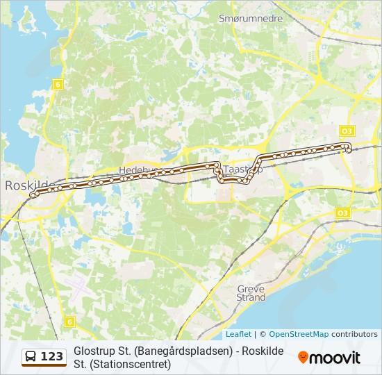123 bus Linjekort