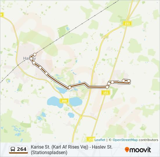 264 bus Linjekort