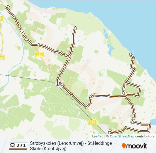 271 bus Line Map