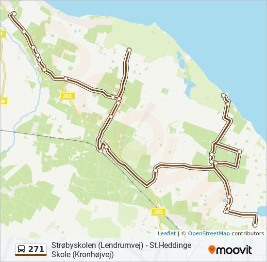 271 bus Linjekort