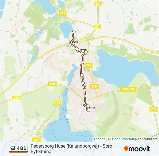 481 bus Linjekort