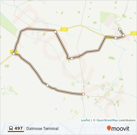 497 bus Linjekort