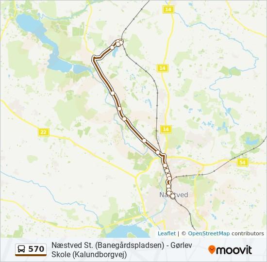 570 bus Linjekort