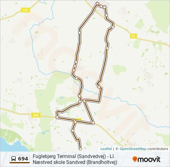 Bus Linie 694 Karte
