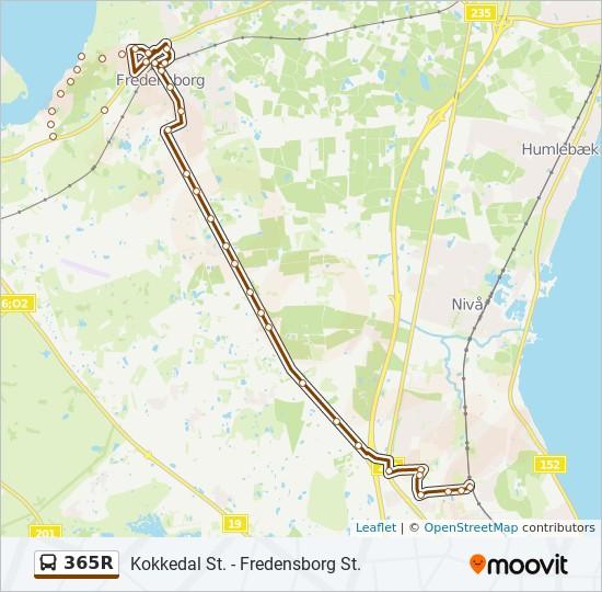 365R bus Linjekort