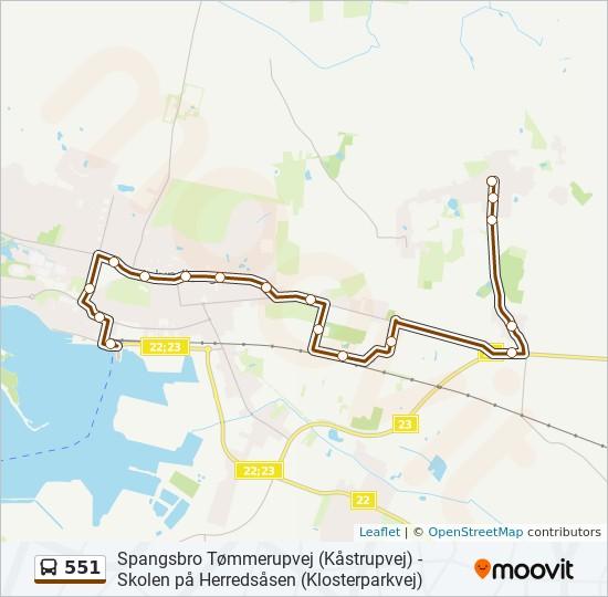 Bus Linie 551 Karte