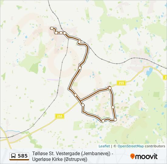 585 bus Linjekort