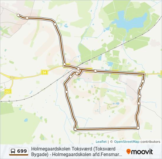 699 bus Linjekort