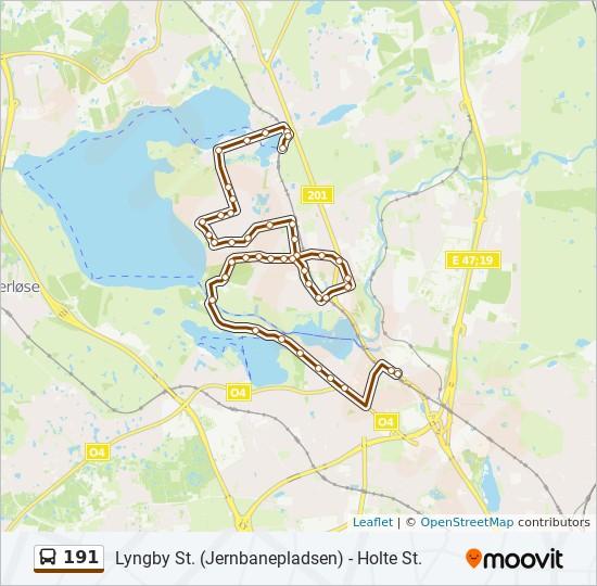 Bus Linie 191 Karte