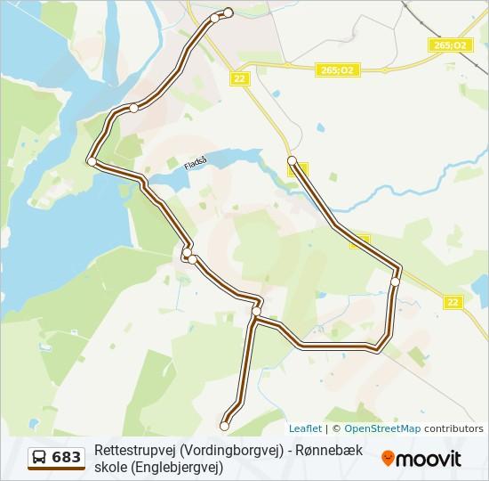 Bus Linie 683 Karte
