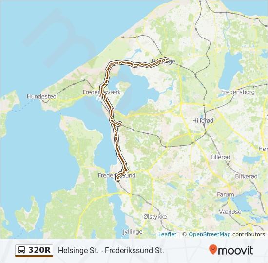 320R bus Linjekort