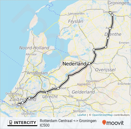 Intercity Route Time Schedules Stops Maps Rotterdam Centraal