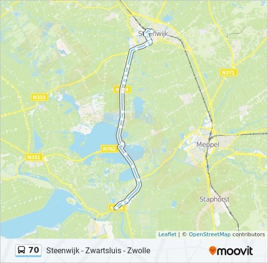 70 bus Line Map