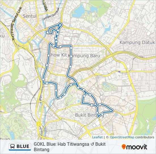 BLUE bus Line Map