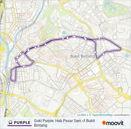 公交PURPLE路的线路图