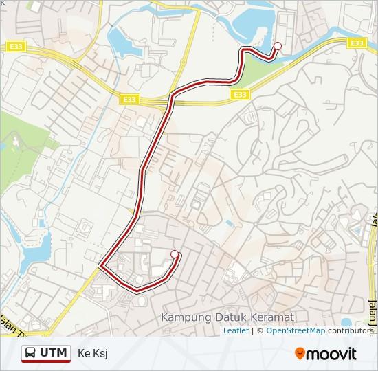 Peta Laluan bas UTM